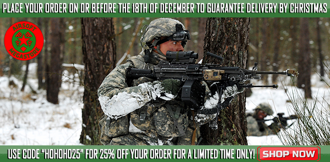 25% Off Airsoft Guns
