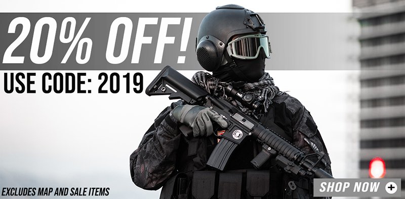 20% Off Airsoft Guns and Tactical Gear