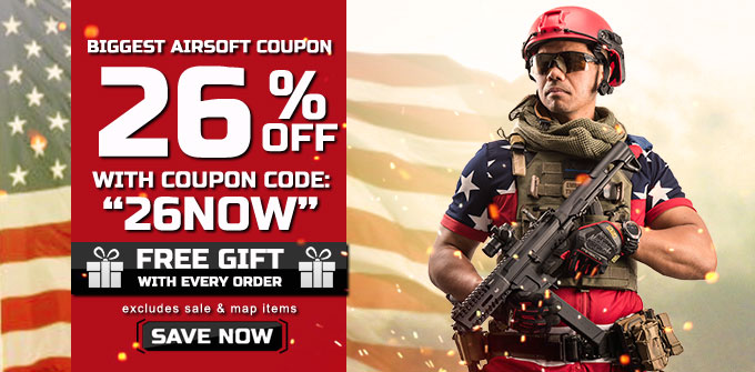 26% Off Airsoft Guns
