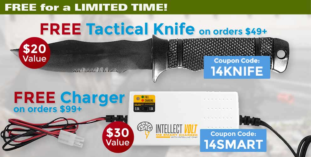 Free Knife or charger