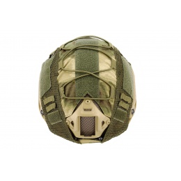 WoSport 1000D Nylon Polyester Bump Helmet Cover (Forest Green)