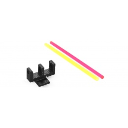 Airsoft Masterpiece STEEL Fiber Front Sight w/ Fiber Strips [B Style]