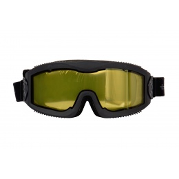 Lancer Tactical Aero Protective Black Airsoft Goggles (Yellow Lens)