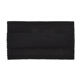 Tactical Pleated Face Mask Cover, Black Camo
