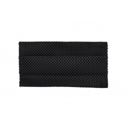 Tactical Pleated Face Mask Cover, Black