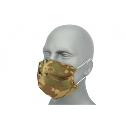 Tactical Pleated Face Mask Cover, Camo