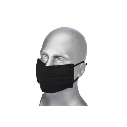 Premium Tactical Pleated Face Mask, Black