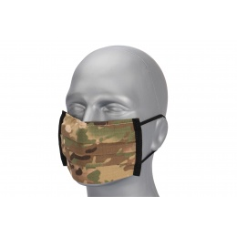 Premium Tactical Pleated Face Mask, Black Camo