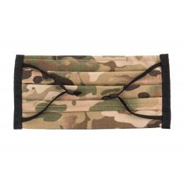 Premium Tactical Pleated Face Mask, Black Camo