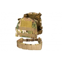 Lancer Tactical 1000D Nylon Children's Tactical Molle Vest w/ Battle Belt [XS] (Camo)