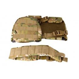 Lancer Tactical 1000D Nylon Children's Tactical Molle Vest w/ Battle Belt [XS] (Camo)