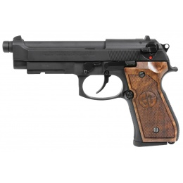 G&G GPM92 GP2 GBB Pistol w/ Walnut Wood Grip, Black