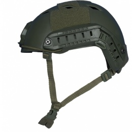 Firepower Airsoft Base Jump Style Helmet w/ Accessory RIS - OD GREEN