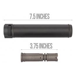 5KU SOCOM Series QD Mock Suppressor w/ Flash Hider [14mm CCW] - BLACK
