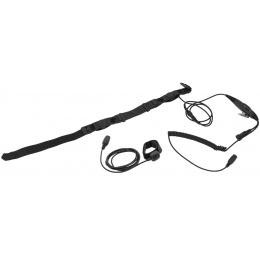 AMA SWAT Tactical Throat Mic w/ Motorola 2-Pin PTT Adapter