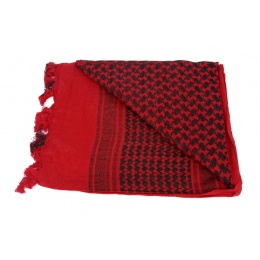 Lancer Tactical Multi-Purpose Shemagh Face Head Wrap - RED/BLACK