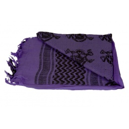 Lancer Tactical Multi-Purpose Tactical Skull Shemagh Face Head Wrap - PURPLE