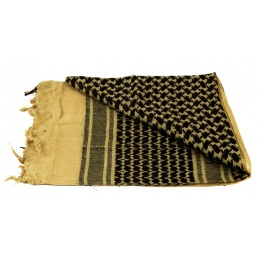 Lancer Tactical Multi-Purpose Shemagh Face Head Wrap - YELLOW / BLACK