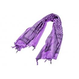 Lancer Tactical Multi-Purpose Shemagh Face/Head Wrap (Color: Purple / Black)