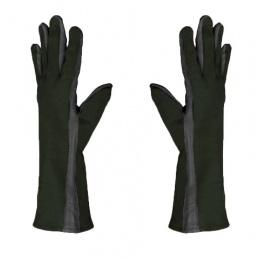AMA Airsoft Leather Nomex Flight Gloves - MEDIUM - BLACK