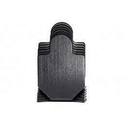 Blank Steel Soldier Training Targets (Pack of 6 / Color: Black)