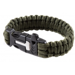 G-Force Multi-Function Survival Bracelet w/ Rope Cutting Tool, Whistle, and Fire Starter
