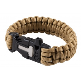 WoSport Multi-Function Survival Bracelet w/ Rope Cutting Tool, Whistle, and Fire Starter