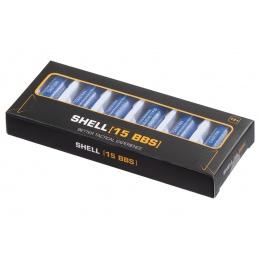 G-Force 15 Round Shotgun Shells for Multi & Single-Shot Airsoft Shotguns (Color: Blue / Pack of 6)