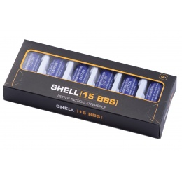 WoSport 15 Round Shotgun Shells for Multi & Single-Shot Airsoft Shotguns (Color: Purple / Pack of 6)