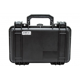 Padded Hard-Shell Locking Carrying Accessories Case (Color: Black)