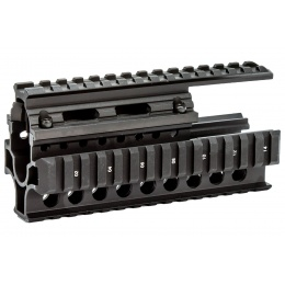 CNC Aluminum 6 Inch Tactical Quad Railed Handguard for AK47 Series Airsoft AEG Rifles (Color: Black)
