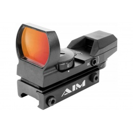 AIM Sports Dual Illuminated Panorama Red Dot Scope (Color: Black)
