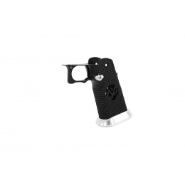 Airsoft Masterpiece, Aluminum Grip for Hi-Capa Type 17 Infinity (Black / Silver)