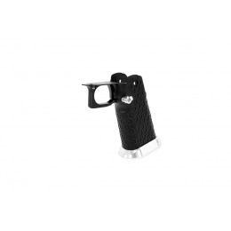 Airsoft Masterpiece Aluminum Grip for Hi-Capa Type 19 Infinity Hex (Black / Silver)
