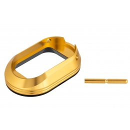 Airsoft Masterpiece Magwell w/ POM Base for Hi-Capa Pistols [L Style] - GOLD