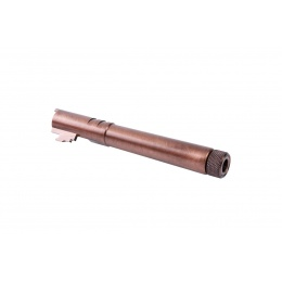 Airsoft Masterpiece Steel Fix Outer Barrel with Threads for Hi-Capa 5.1 GBB Pistols (Copper)