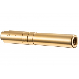 Airsoft Masterpiece Steel Fix Outer Barrel for Hi-Capa 4.3 GBB Pistol (Color: Gold)