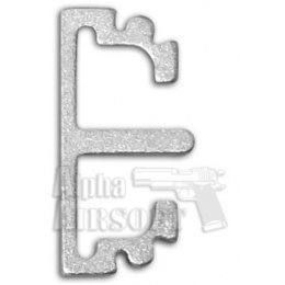 Airsoft Masterpiece Aluminum Puzzle Front Flat Long Trigger (SILVER)