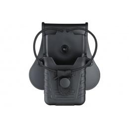 Amomax Tactical Hard Shell Radio Holder (Color: Black)