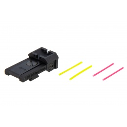 Airsoft Masterpiece Aluminum Rear Sight w/ Fiber Optics for Hi-Capa [S Style]