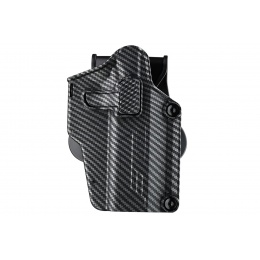 Amomax Multi-Fit Right Handed Tactical Holster (Color: Carbon Fiber/ Black)