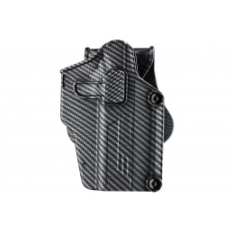 Amomax Multi-Fit Right Handed Tactical Holster (Color: Carbon Fiber)