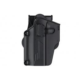 Amomax Multi-Fit Left Handed Tactical Holster (Color: Black)