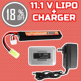 Performance Boost Bundle: Charger + 11.1V LiPo Stick Battery Bundle