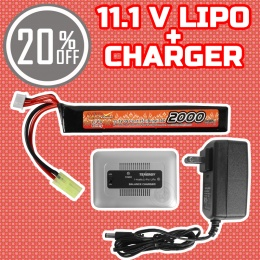 Performance Boost Bundle: Charger + 11.1V LiPo Wide Stick Battery Bundle