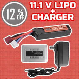 Performance Boost Bundle: Charger + 11.1V LiPo PDW Stick Battery Bundle