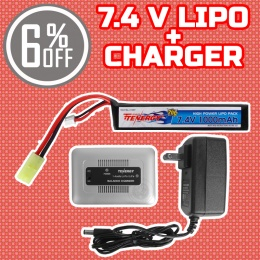 Performance Boost Bundle: Charger + 7.4V LiPo Stick Battery Bundle