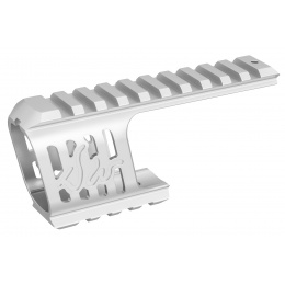 ASG CNC Machined Aluminum Rail Mount for ASG Dan Wesson 715 Replica Revolvers (Silver)