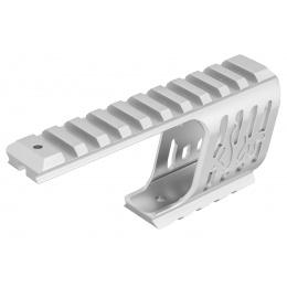 ASG CNC Machined Aluminum Rail Mount for ASG Dan Wesson 715 Replica Revolvers (Silver)