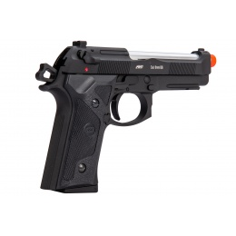 ASG M9A1 Heavyweight Airsoft Gas Blowback Pistol (Black w/ Silver Barrel)